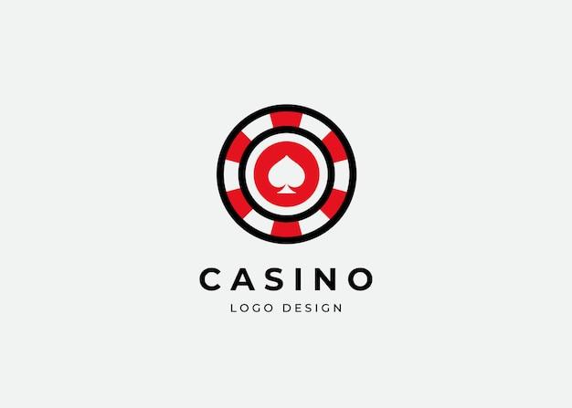 Casino poker logo ontwerpsjabloon