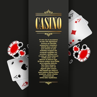 Casino poster of banner achtergrond