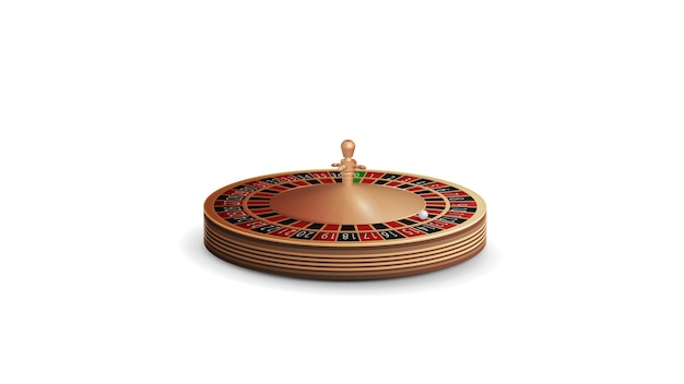 Casino roulette wiel in volumetrische stijl geïsoleerd op een witte achtergrond voor uw arts