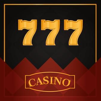 Casino sevens spel over zwart achtergrond vectorillustratie grafisch ontwerp