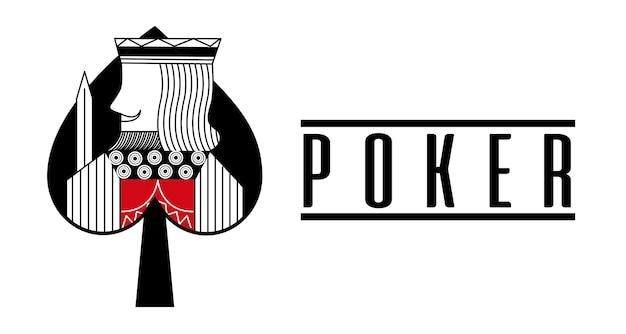 Casino spade koning kaart poker game banner