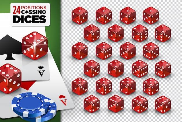 Casino spel dobbelstenen