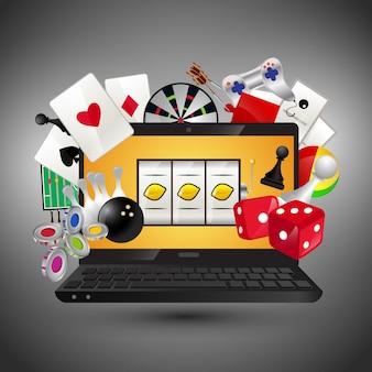 Casino spellen concept