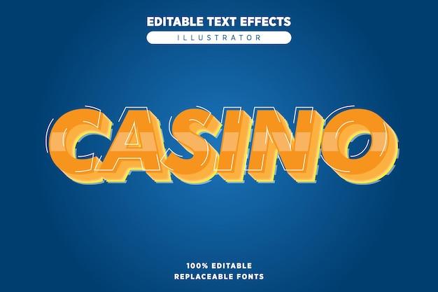 Casino-teksteffect bewerkbaar