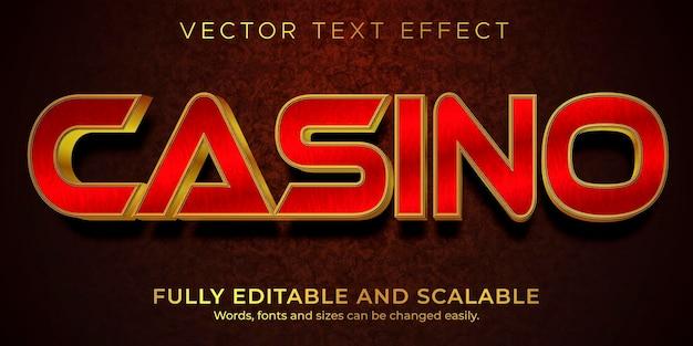 Casino teksteffect stijlsjabloon