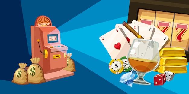 Casino winnaar horizontale achtergrond