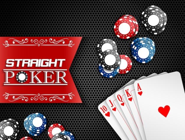 Casinobanner met royal flush