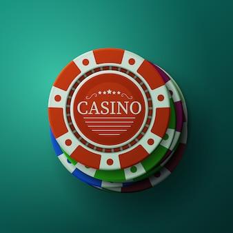 Casinofiches. stapel gokker pokerfiches. blackjack gokken.