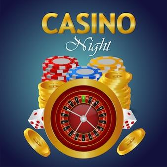 Casinogokspel met gouden tekst en speelkaarten en casinoslot