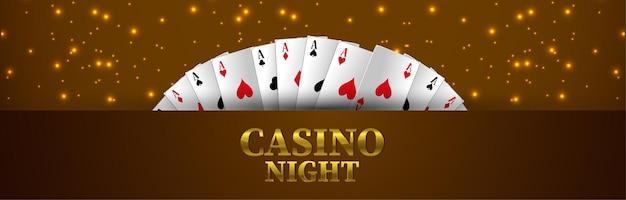 Casinogokspel met roulettewiel en speelkaarten