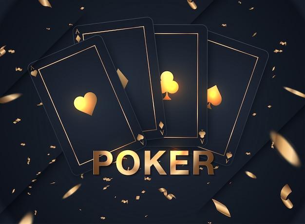 Casinokaart ontwerpcollectie