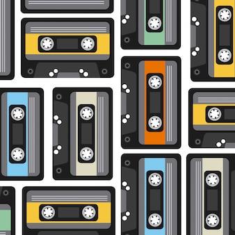 Cassete achtergrond
