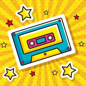 Cassette pop-art stijl