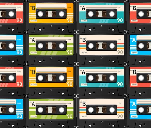 Cassette tape naadloze patroon