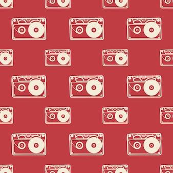 Cassettepatroon, muziekillustratie. creatieve en luxe hoes