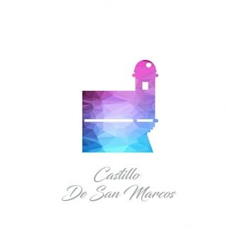 Castillo de san marcos monument polygon logo
