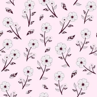 Casual bloem inpakken geschenk patroon