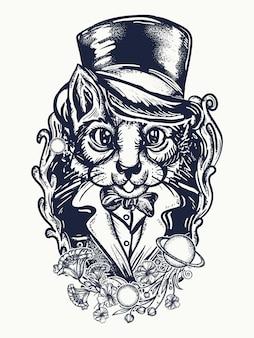 Cat gentleman design