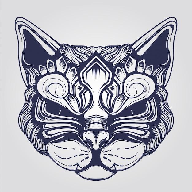 Cat gezicht sier