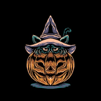 Cat halloween illustratie