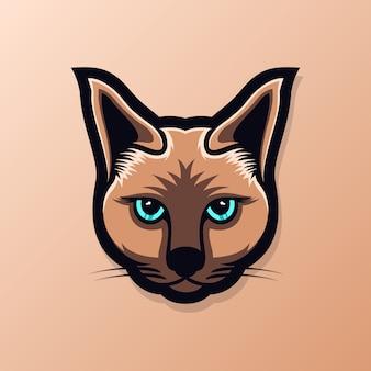 Cat head logo esport