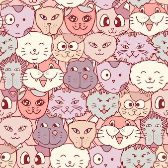 Cat's head naadloze patroon