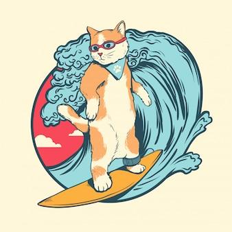 Cat surfen