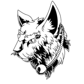 Cat zwart-wit afbeelding
