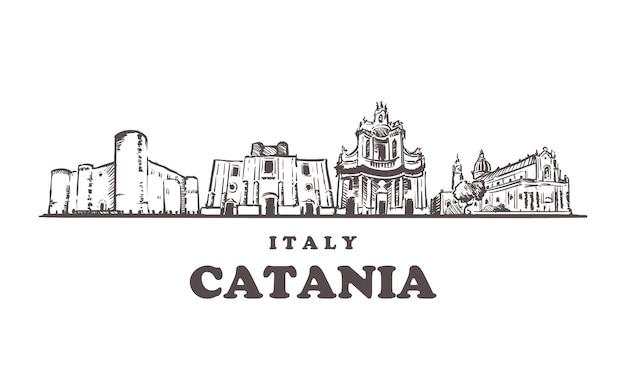 Catania schets stadsgezicht