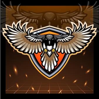 Catcher vogel mascotte esport logo ontwerp