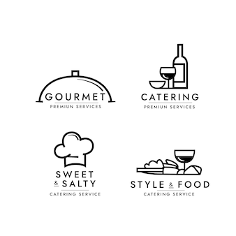 Catering logo sjabloon collectie