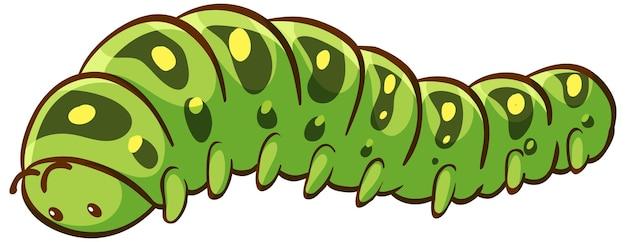 Caterpillar cartoon op witte achtergrond