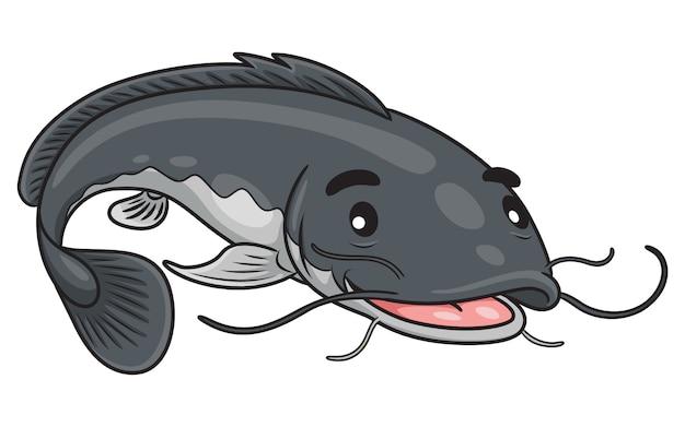 Catfish cute cartoon