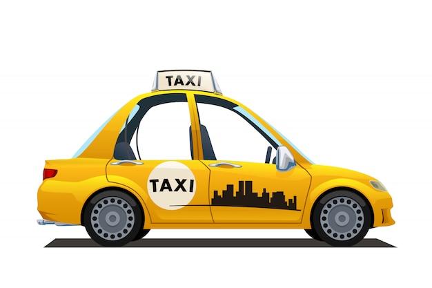 Catoon gele taxi