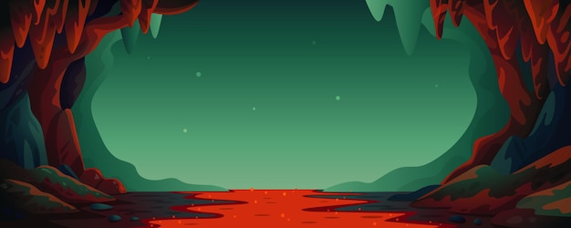 Cave - vector cartoon achtergrond
