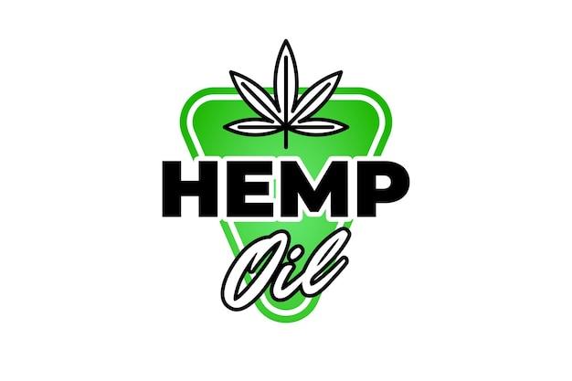 Cbd hennepolie medische cannabis badge marihuanablad extract drop teken natuurlijk product label ontwerp