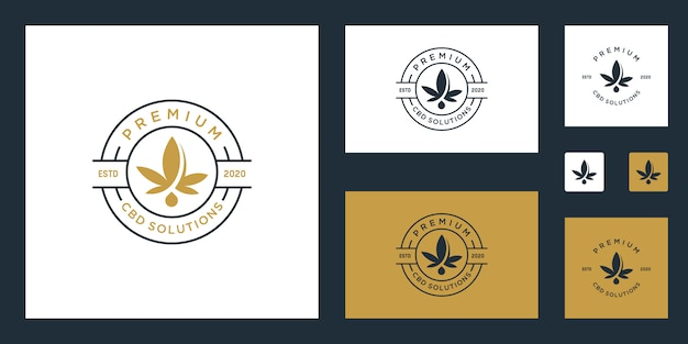 Cbd / marijuana / cannabis premium logo-inspiratie
