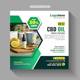 Cbd oil sale social media post-sjabloon