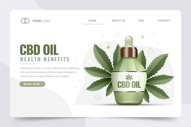 Cbd olie gezondheidsvoordelen bestemmingspagina