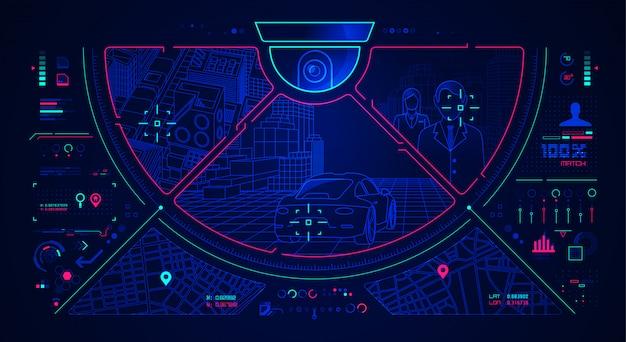 Cctv-interface achtergrond