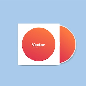 Cd-cover ontwerp mockup vector
