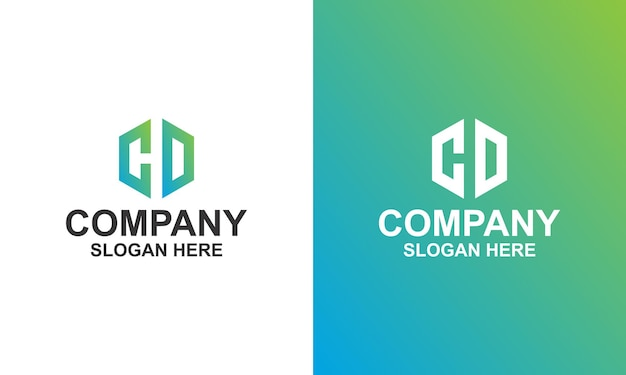Cd hd letter-logo-ontwerp premium vector premium