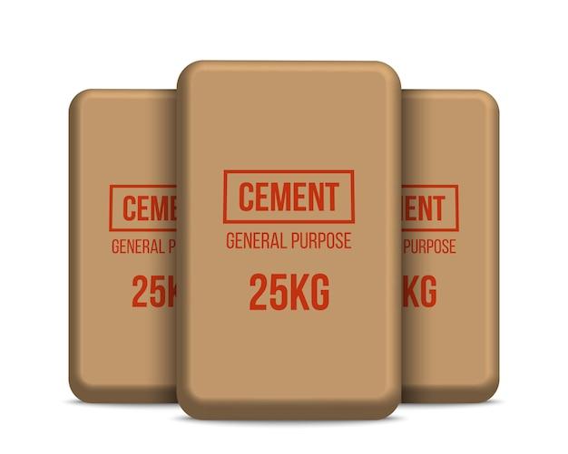 Cementzakken, papieren zakken