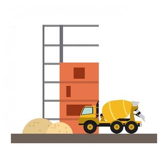 Cemet vrachtwagen voertuig