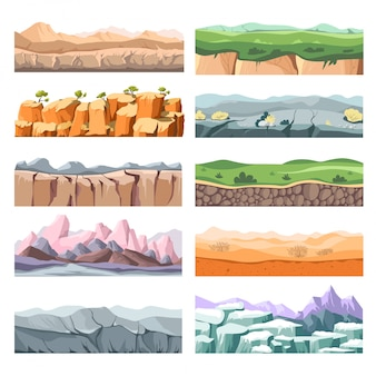 Ceneries en landschappen van verschillende landen of landen