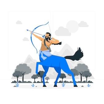 Centaur concept illustratieur
