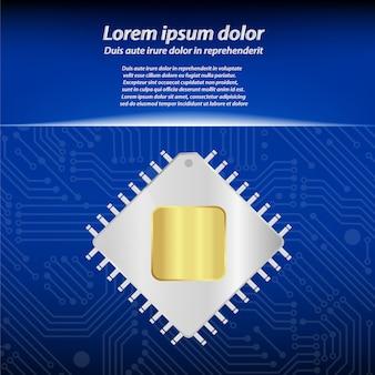 Centrale verwerkingseenheid met printplaat