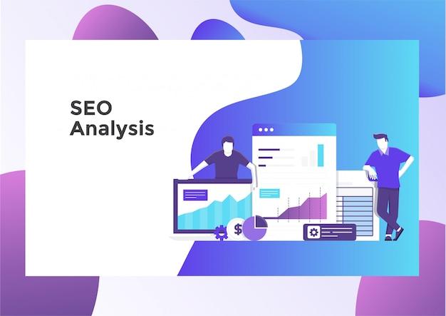 Ceo-analyseillustratiepagina