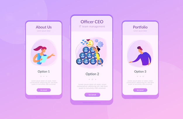 Ceo it app interface template