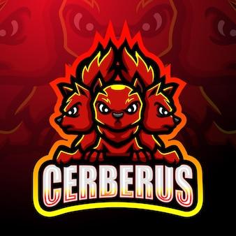 Cerberus mascotte esport logo ontwerp